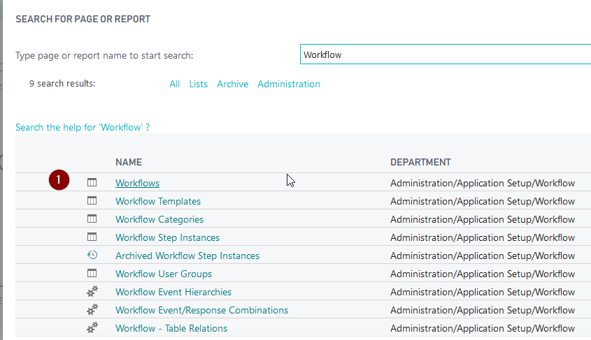 How to use workflow in Dynamics 365 Business Central